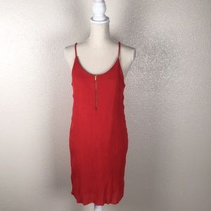 Justify Red Sleeveless Shift Dress w/ Zip Front